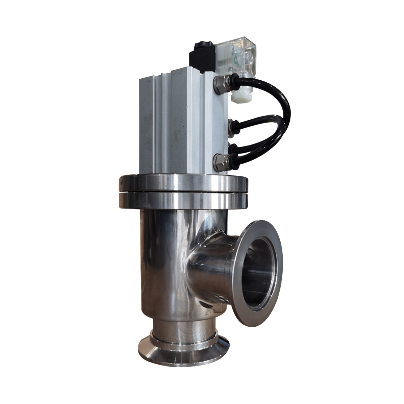 Connection form of vacuum valve