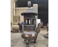 圓形銅香爐