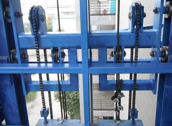 链轮-链条式升降台