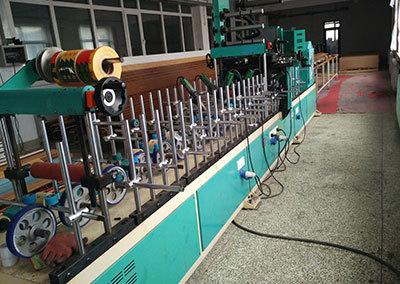 PUR350B塑鋼型材覆膜機—大連福興現場