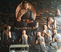 銅壁畫佛像