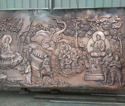 寺廟銅浮雕