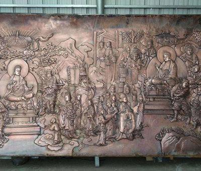 寺廟紫銅浮雕