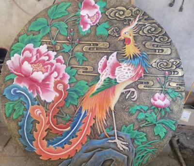 動物紫銅浮雕