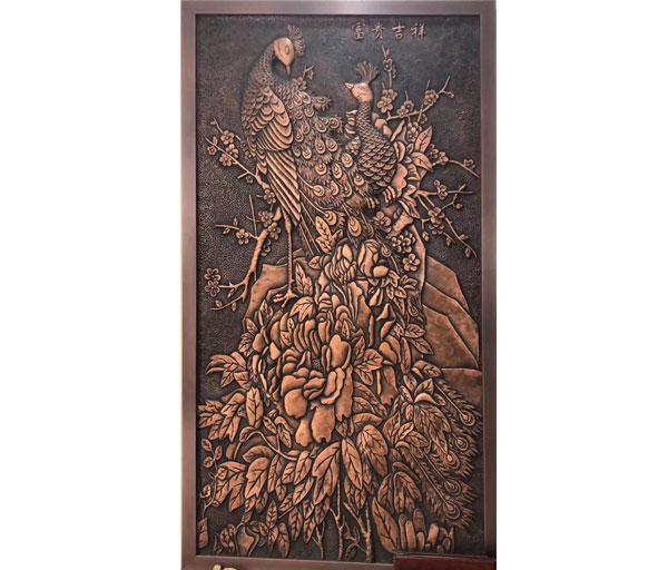 銅浮雕-富貴吉祥