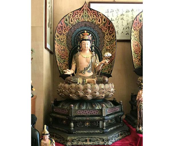 銅佛像-彩繪雕塑