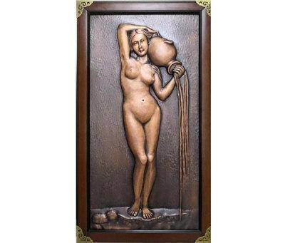 人物銅浮雕