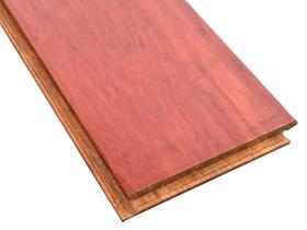 柚木色鎖扣重竹地板