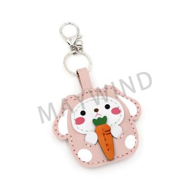 兔子和萝卜手工缝制钥匙扣