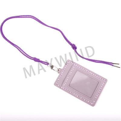 手工缝制长绳卡包-紫色