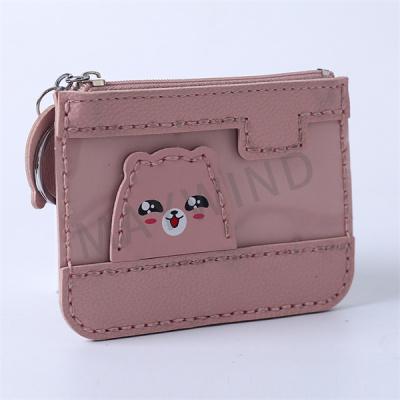 手工缝制小熊卡包-粉色
