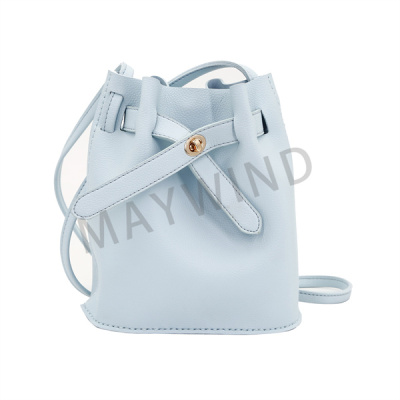 DIY手工缝制水桶包-蓝色