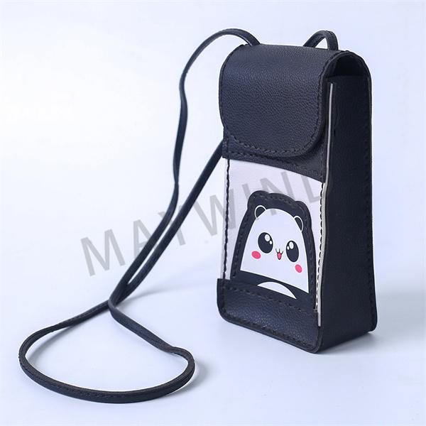 手工缝制立体手机包-黑色
