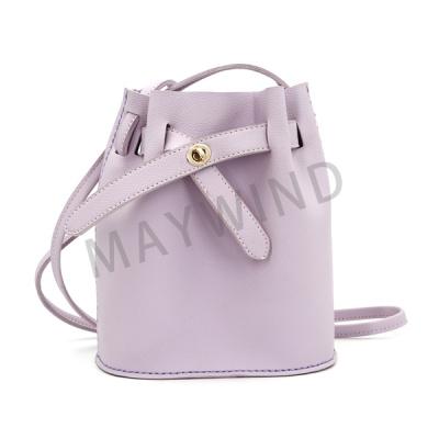 DIY手工缝制水桶包-紫色