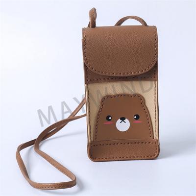 手工缝制立体手机包-棕色