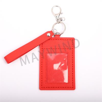 手工缝制把手卡包-红色