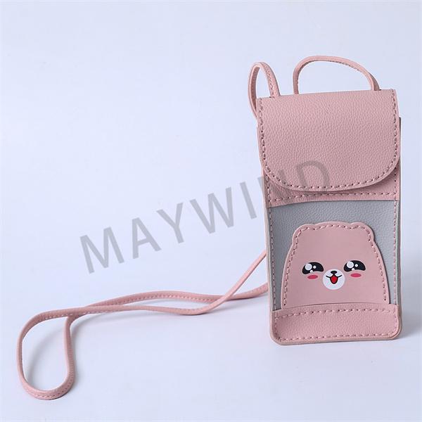 手工缝制立体手机包-粉色