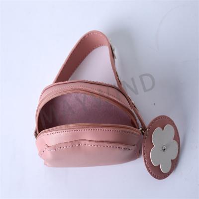 DIY手工缝制小花包-粉色