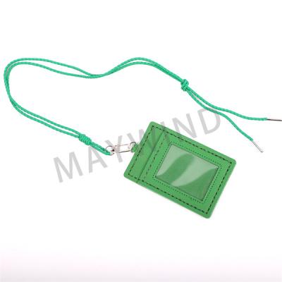 手工缝制长绳卡包-绿色