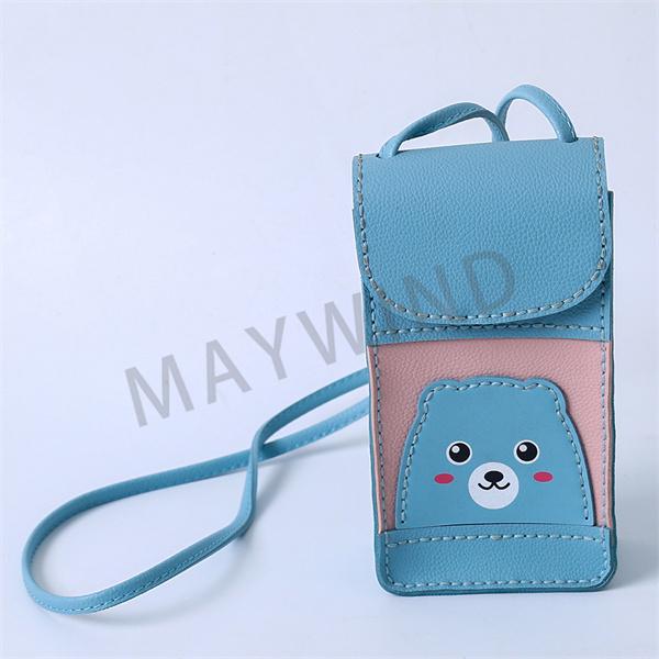 手工缝制立体手机包-蓝色