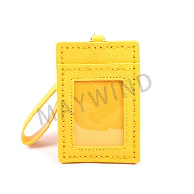 手工缝制把手卡包-黄色
