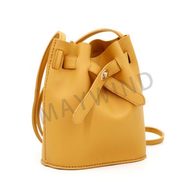 DIY手工缝制水桶包-黄色