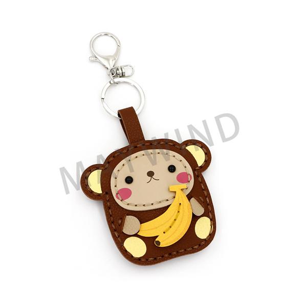 猴子和香蕉手工缝制钥匙扣