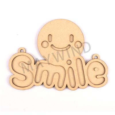 木质微笑章鱼门牌