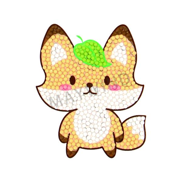 头上有树叶狐狸钻石画