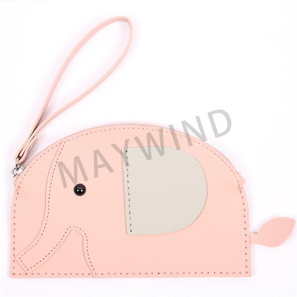 大象缝制手工包-粉色