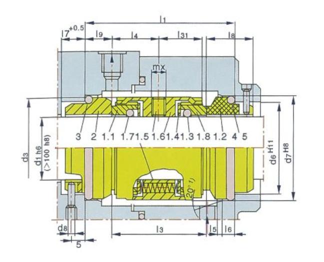 泵用機械密封M74-D型