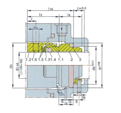 泵用機械密封M7N型