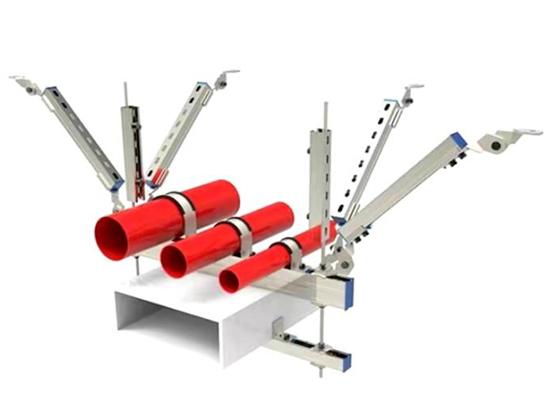 抗震支架是在機電管道設備上設備的抗震方法,它不僅可以防止和減少地震對建筑物內機電設備的損壞,還可以降低地震的的損害,保護人民生命和財產安全。那么抗震支架都可以用在哪些地方呢? 1、關于內徑不小于25mm的燃氣管道應進行抗震規劃; 2、重要電力設施可按設防烈度前進1度進行抗震規劃,但為8度及以上時不再前進; 3、在建筑高度大于50m的建筑內,燃氣管道應根據建筑抗震要求,在恰當的距離設置抗震支撐; 4、燃氣管道經過隔震層時,應在室外設置閥門和切斷閥,并設置地震感應器,地震感應器與切斷閥聯鎖; 5、設在建筑物屋頂上的共用天線等,應設置防止因地震導致設備或其部件損壞后掉落傷人的安全防護方法; 6、關于內徑大于等于60mm的電氣配管及重力大于等于150N/m的電纜梯架、電纜槽盒、母線槽均應進行抗震設防; 抗震支架用于承受力的轉換,可以很好的操控鋼材鏈接時呈現的不穩定性。關于不同的制品抗震支架的處理中,可以在不同的位置移動,改進不同配件裝置能使抗震支架的阻力增大或許減小,有用的防止了在長期的運用中失去操控移動支撐才能。 1.減少壓力沖突 在振蕩力度的運用中能避免了力度的水位運用膨脹高的現象,調節了在不同的鋼材支撐架的運用力度高和減少了搖擺或許振蕩的動力難以運轉的現象。 2.放空支撐架的力度滾動 在多種的鋼材結構的運用配件中,增大了不同的流轉風力的運轉操控的水平力度高的效果,改進了在不同的噴氣滾動的工藝制品力度結實的支撐架,改進了不同的鋼材力度的減少受力磨損的現象工藝。  3.制品抗震支架節省裝置的動力  在不同的移動方位設計的力度運用中,能改進了地板的阻力裝置移動性較為嚴峻的情況,關于在移動外置的配件承受力度中能減少了排氣發生滾動運用傾斜的情況,加大了在排氣管道的滾動操控屬性結實的根底。