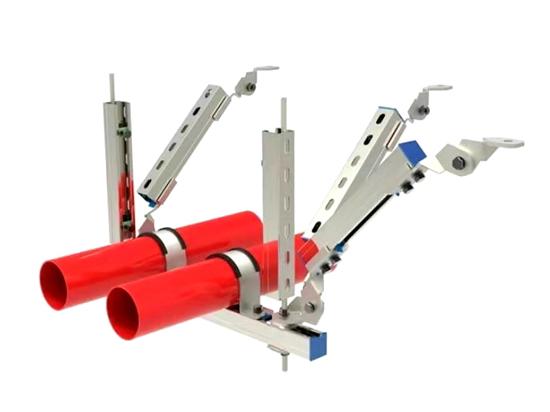 多管側縱向抗震支架