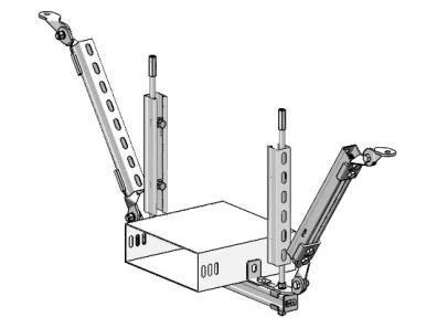 電氣橋架單向鋼性抗震支吊架