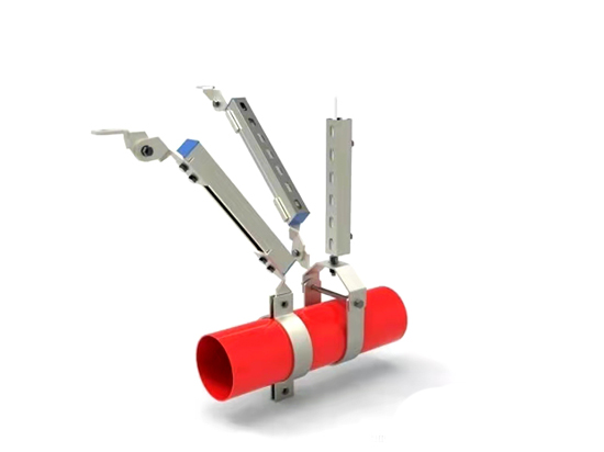單管側縱向抗震支架