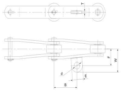 彎板型糖機鏈附件1