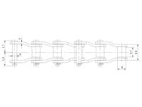窄系列焊接彎板鏈