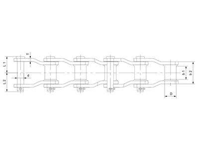 湖北窄系列焊接彎板鏈