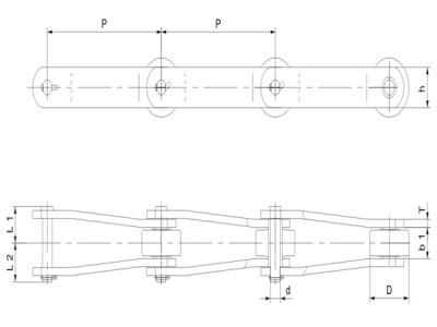 彎板型糖機鏈