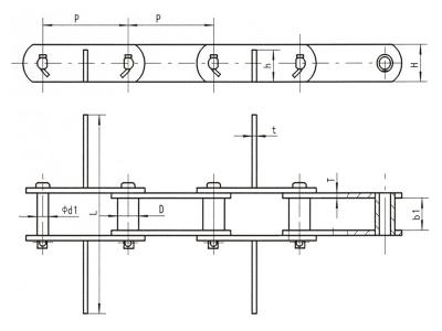 焊接輕型糧機鏈