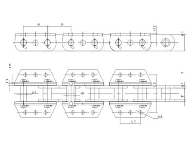 湖北ZYB中央鏈板式鏈條