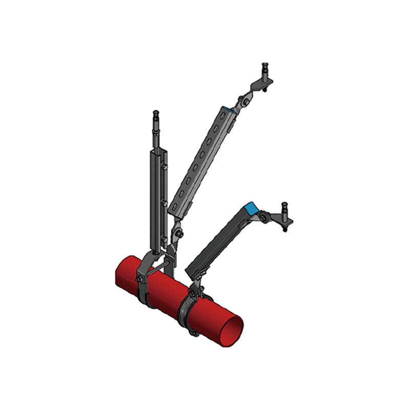 單管側向抗震支架