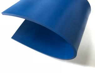 4mm藍色PU易潔平帶