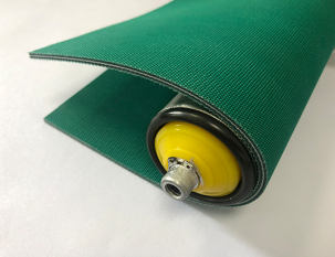 3.5mm綠色PVC雙面布紋帶