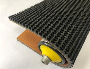 7.5mm黑色橡膠鋼模草花紋