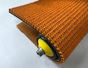 8mm橘色橡膠草花紋