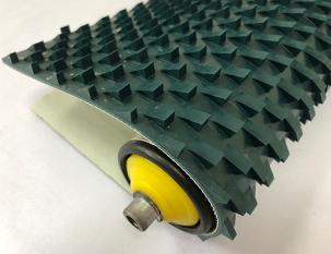 8mm墨綠色PVC鋸齒花紋