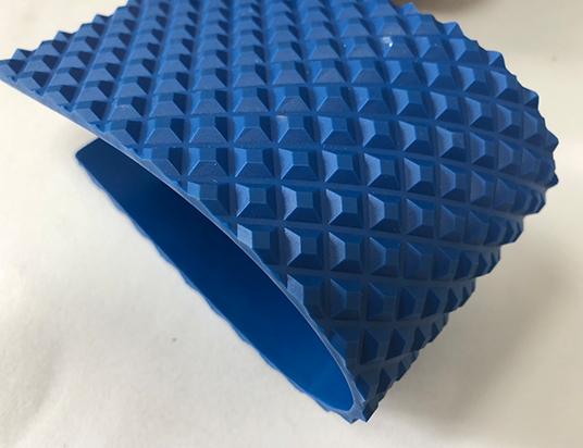 4.5mm藍色PU寶塔紋