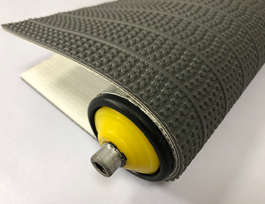 4mm灰色PVC條狀淺草紋